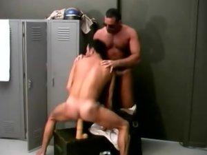 Mature Gay Bear Plays With a Dildo