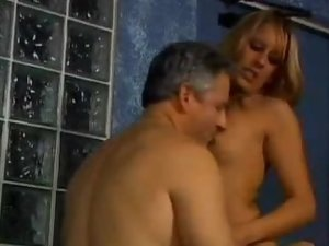 Blonde Babe Bisexual Threesome