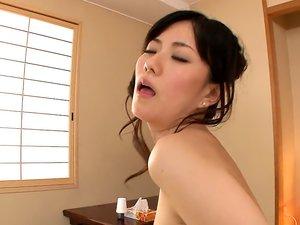 Sensual masseuse Manami Komukai is often fucking her clients