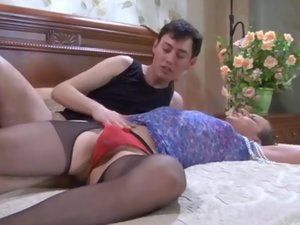 Jack and Horatio cocksuking crossdresser on video