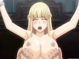 Blonde hentai babe chained