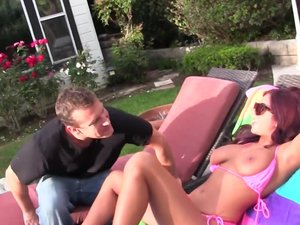 Young hot Stacy Jay jerks and sucks her step brothers big cock