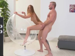 Sweet young babe Alexis Crystal gets her clit licked and tickled and plays with a big cock