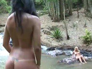 brazilian jungle anal threesome