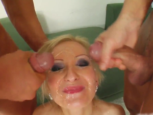 excellent gangbang twins handjob penis load cumm on face something is. Thanks