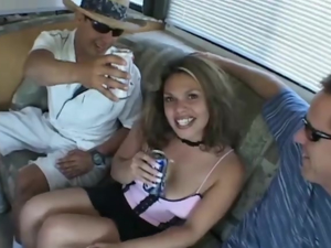 picked up for anal gangbang van orgy