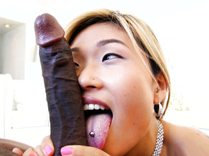 Hot Asian Chick Takes A Monster Cock In The Ass