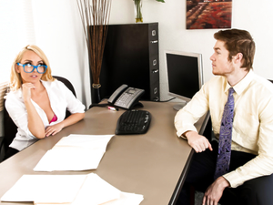 Wild MILF Boss Aaliyah Love Humiliates Employee for Sex!