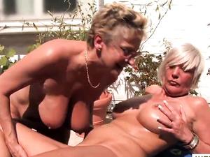 Blonde alte Lesben