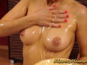slippery nuru massage sex with Carla Cox