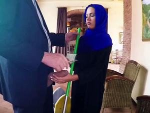 Sexy Arab cutie filled with fat dick