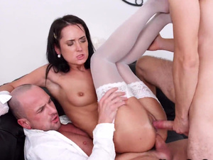 Young Sex Parties - Angie Moon - Double load on her pretty face