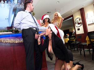 Brazzers – Office 4-Play: Christmas Bonuses