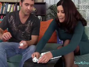 Slutty Milf Bangs Her Step-son