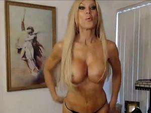 Busty MILF on Cam Legendary Muscular Goddess