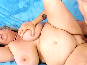 Amorous BBW Winter Wolf Rubs Her Pussy and Then Gets Her Mouth and Cunt Fucked