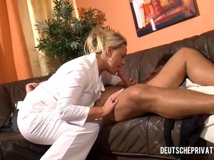 Milf Doctor Blows Patient's Dick