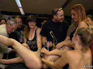 Big ass blonde orgy submitted in public