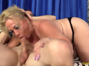 Thick Blonde Grandma Summer Sucks Mean Dick and Fucks Like a Banchee
