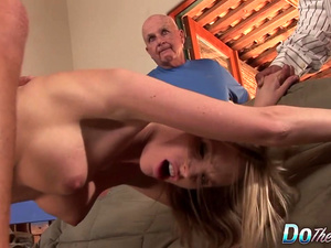 Blonde Housewife Aimee Addison's Husband Watches Her Get Railed by a Stud