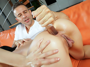 Filling Her Rectum With Cock