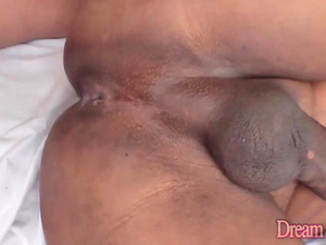 Black Tranny Alessia Santos and a White Guy Flipflop Fuck Each Others Asses