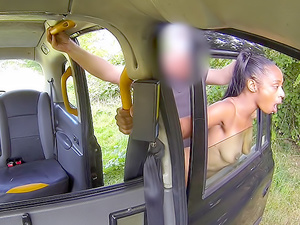 Ebony beauty empties cabbies balls