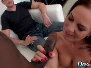 Lamer Husband Witnesses His Wife Alicia Jones Being Railed by a Black Dick