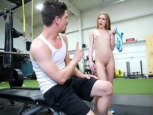 Stepsister Rides Stepbro's Dick At Gym
