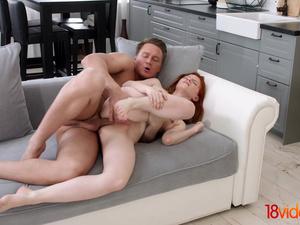 18 Videoz - Lili Fox - Redhead taking her first anal