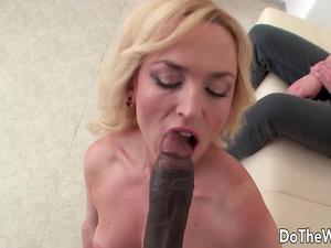Blonde Wife Georgina Grey Enjoys Black Cock Next to Her Cuckold Hubby