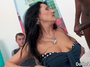 Hubby Watches Mature Wife Emily Devine Get Creampied by Black Cock