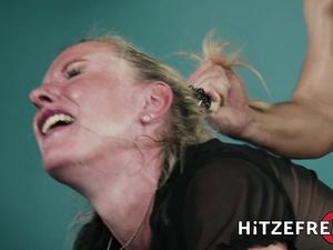 HITZEFREI Blonde German MILF fucks a younger man
