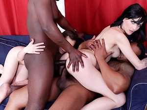 Anal Sluts Anife De Paloma and Meggie Green Replace Their Toys with BBCs