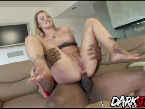 Aline Sates Her Desire for a Big Black Cock in Her Mouth and Ass