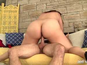 Gorgeous Chubby Babe Angel DeLuca Rides an Old Man out of His Mind