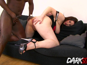 MILF Carol Wings Stretches Her Asshole with a Toy Before Taking BBC