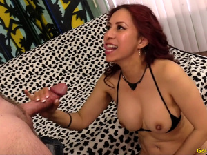 Seductive Mature Latina Claudia Fox Makes a Hairy Old Man Very Happy