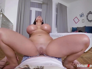 monster boob pov with german milf