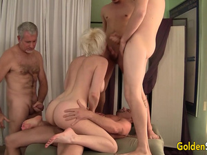 Pristine Granny Dalny Marga Gets Passed Around Between Five Men