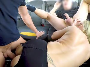 Greedy blonde MILF wants two cocks