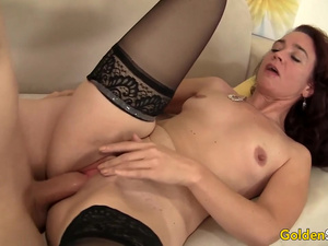 Older Redhead Beauty Sable Renae Spreads Her Legs for a Long Rod