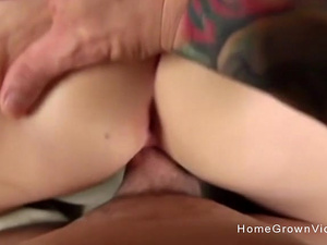 Sexy Maid Stops Cleaning To Jerk And Suck My Hard Cock