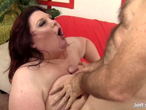 Sexy Plumper Stazi Pleasures an Old Man with Her Big Boobs and Plump Pussy
