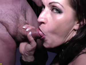 extreme anal party with german milf