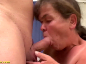 midget granny first time threesome