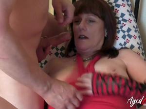 AgedLovE Horny Mature Lady and Three Hard Cocks