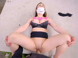 Face Mask Fucking with Big Boobs