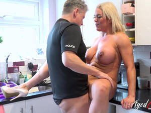 AgedLovE Busty Blonde Milf Fucked By Officer