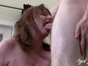 AgedLovE Busty Mature Recieves Deep Hardcore Sex